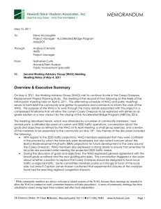 MEMORANDUM Howard/Stein-Hudson Associates, Inc.