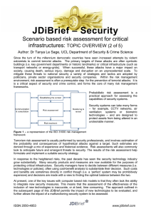 – Security JDiBrief Scenario based risk assessment for critical infrastructures: