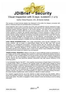– Security JDiBrief Visual Inspection with X-rays: