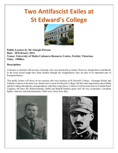 Two Antifascist Exiles at St Edward's College