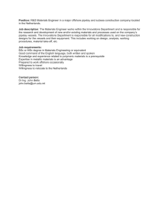 Position: Job description in the Netherlands.