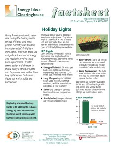Holiday Lights Many Americans love to deco- rate during the holidays with