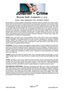 – Crime JDiBrief Bicycle theft: