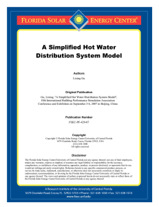 A Simplified Hot Water Distribution System Model