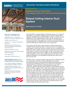 Raised Ceiling Interior Duct System Building America Case Study