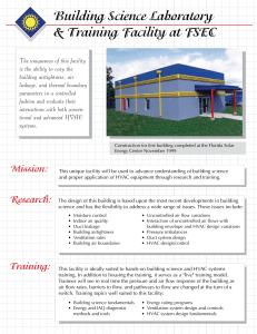 Building Science Laboratory & Training Facility at FSEC