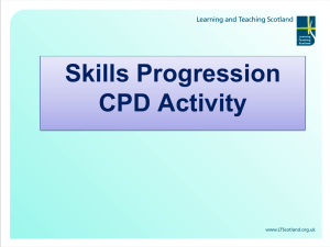Skills Progression CPD Activity