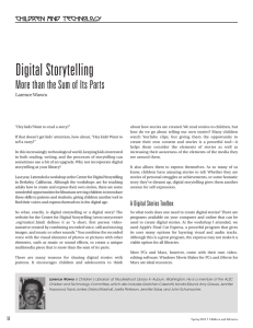 Digital Storytelling More than the Sum of Its Parts Children and Technology
