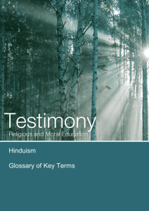 12:00 Hinduism  Glossary of Key Terms