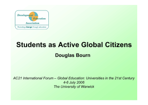 Students as Active Global Citizens Douglas Bourn