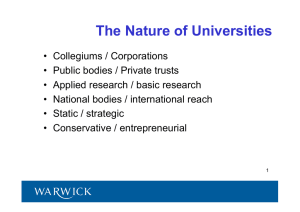 The Nature of Universities