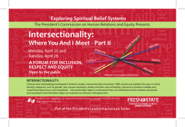 Intersectionality: Where You And I Meet - Part II