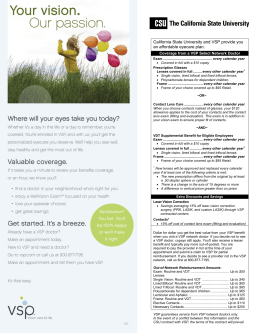 California State University and VSP provide you an affordable eyecare plan.