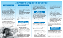 Family Support Ser vices What are Who Can Request Family Support Services?