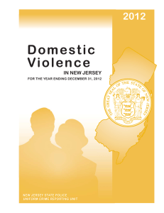 Domestic Violence 2012 IN NEW JERSEY