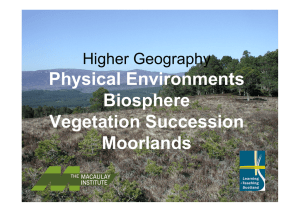 Physical Environments Biosphere Vegetation Succession Moorlands