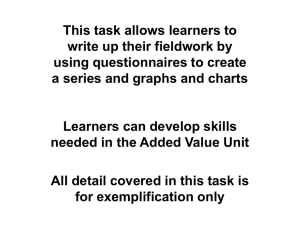 This task allows learners to write up their fieldwork by
