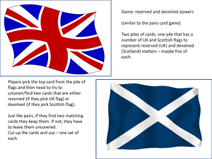 Game: reserved and devolved powers (similar to the pairs card game)