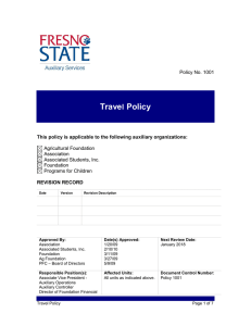 Trave Policy l