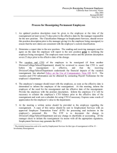 Process for Reassigning Permanent Employees
