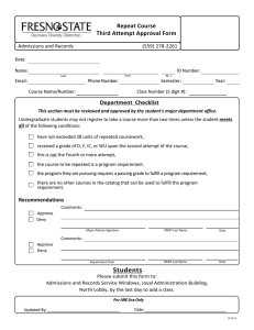 Repeat Course Third Attempt Approval Form