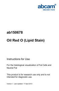 ab150678 Oil Red O (Lipid Stain) Instructions for Use