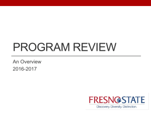 PROGRAM REVIEW An Overview 2016-2017