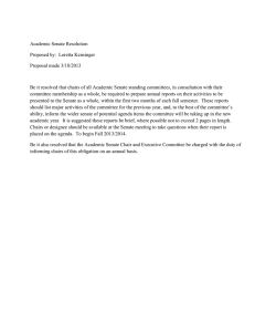 Academic Senate Resolution Proposed by:  Loretta Kensinger Proposal made 3/18/2013