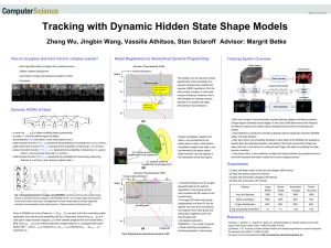 Tracking with Dynamic Hidden State Shape Models