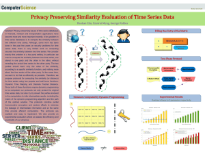 Privacy Preserving Similarity Evaluation of Time Series Data
