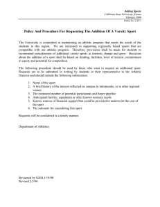 Policy And Procedure For Requesting The Addition Of A Varsity...
