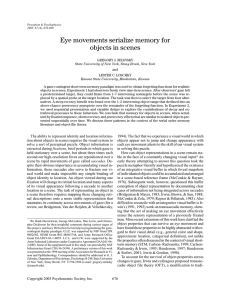 Eye movements serialize memory for objects in scenes