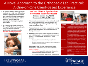 A Novel Approach to the Orthopedic Lab Practical: Promotes Student Success