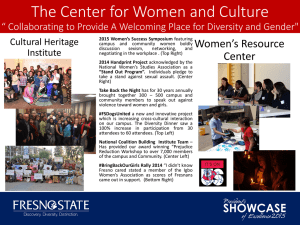 The Center for Women and Culture Women's Resource Cultural Heritage