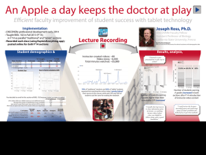 An Apple a day keeps the doctor at play Efficient