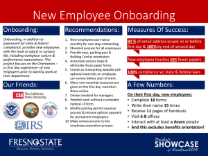 New Employee Onboarding Measures Of Success: Onboarding: Recommendations:
