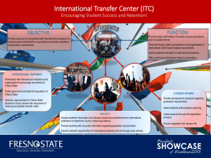 International Transfer Center (ITC) Encouraging Student Success and Retention!