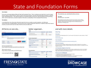 State and Foundation Forms