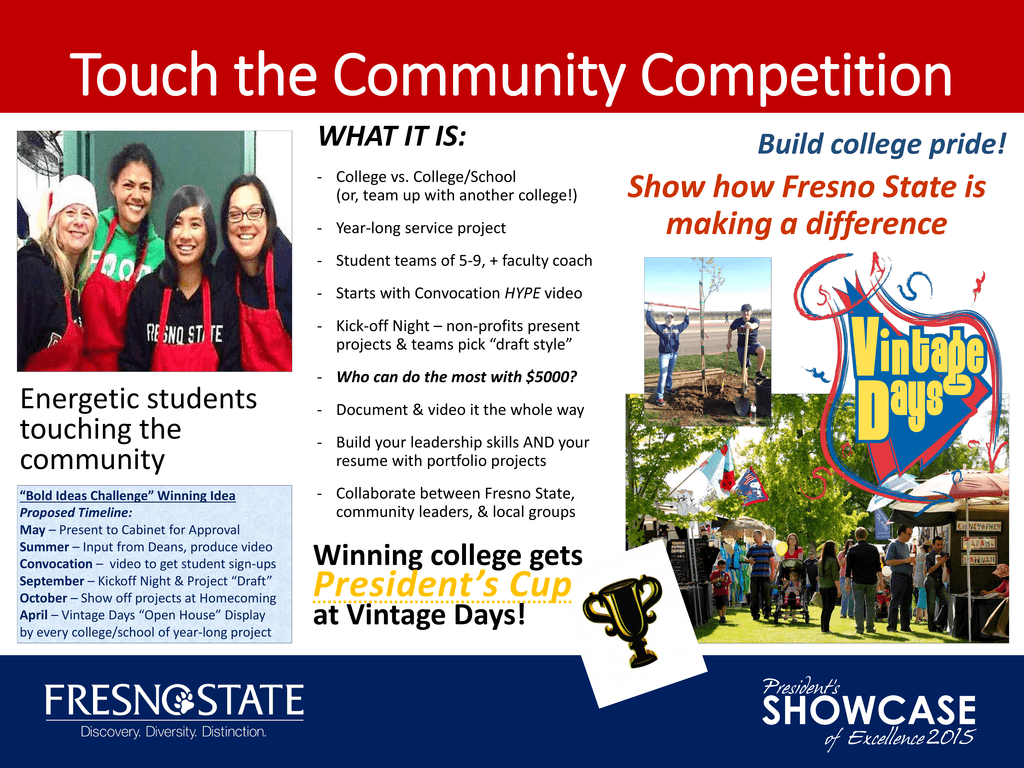 Touch The Community Competition Show How Fresno State Is Making A