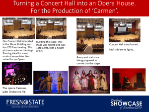 Turning a Concert Hall into an Opera House.
