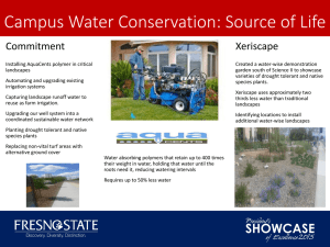 Campus Water Conservation: Source of Life Commitment Xeriscape