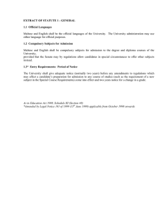 EXTRACT OF STATUTE 1 - GENERAL 1.1  Official Languages