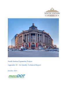 South Station Expansion Project Appendix 10 - Air Quality Technical Report