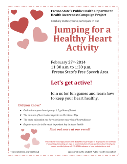 Jumping for a Healthy Heart Activity Let's get active!