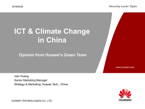 ICT & Climate Change in China Opinion from Huawei's Green Team