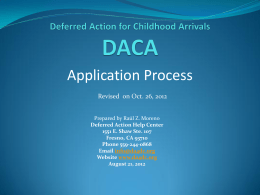 Application Process  Revised  on Oct. 26, 2012