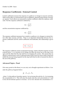 Response Coefficients - External Control