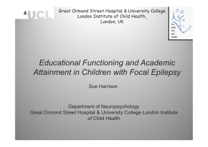 Educational Functioning and Academic Attainment in Children with Focal Epilepsy