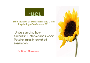 Understanding how successful interventions work: Psychologically enriched evaluation