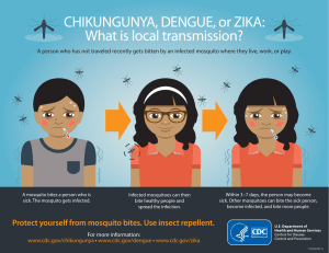 CHIKUNGUNYA, DENGUE, or ZIKA: What is local transmission?